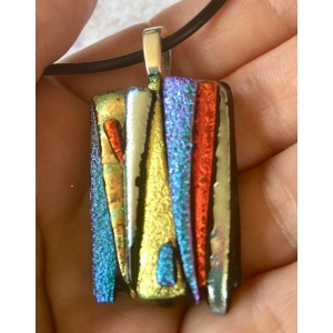 Small Dichroic Glass Pendant..