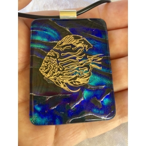 Fish Dichroic Glass Pen..