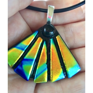 Fan Dichroic Glass Pendant i..