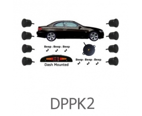 DPPK2 - Front & Rear Sensors - Front Audio Alerts with Rear Dash Display