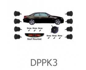 DPPK3 - Front & Rear Sensors - Front Audio Alerts with Rear Roof Display