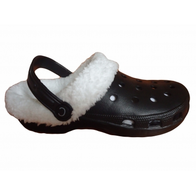 Fur Lined Clogs Adults Fleece Furry Slippers Shoes Winter Cloggis