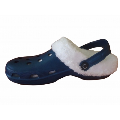 Fur Lined Clogs Mules Navy Sandals Flip Flops Cloggis Slippers