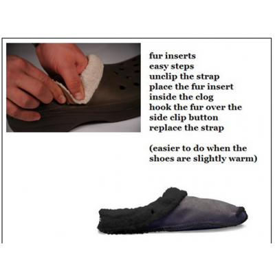 Fur Insoles For Clogs, Crocs, Mules, Replacement Inserts Shoe Liners