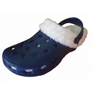 Fur Lined Clogs Winter Sandals Furry Mules Lightweight Slippers