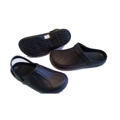 Full Kitchen Clogs Black Chefs Shoes Safety Footwear Garden Rubber