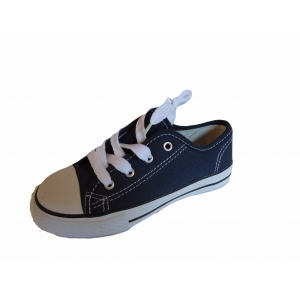 Kids Canvas Lace Up Pumps Plimsolls Low Top Retro Baseball Trainers