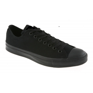 Black Canvas Trainers Lace Up Low Top Plimsoll Sneakers