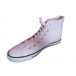 White High Top Ankle Boots Canvas Baseball Trainers Baseball Pumps