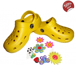 Cloggis Kids Clogs Yellow Beach Sandals Mules Slippers