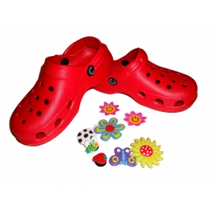 Kids Girls Boys Red Sandals Slippers Shoes Beach Clogs