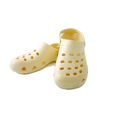 Beige Sandy Clogs Beach Garden Kitchen Chef Sandals Cloggis