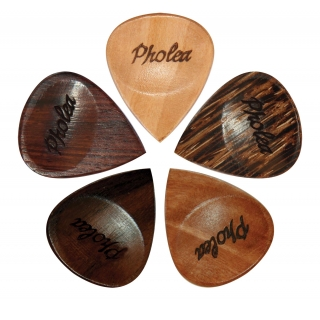 Pholea Timber Guitar Pick 5 Pack