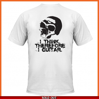 Pholea T-Shirt I Think Therefore I Guitar