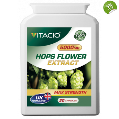 Hops Flower Extract 5000mg Max Strength Upto 5 Months Supply