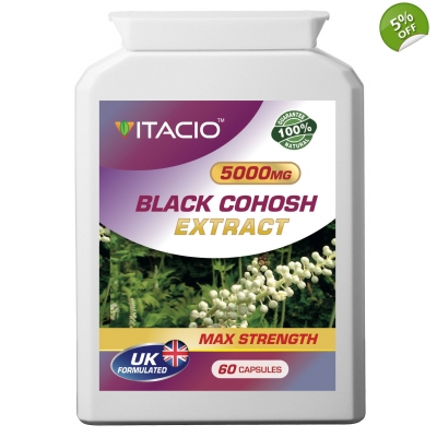 Black Cohosh Extract 5000mg Max Strength Upto 5 Months Supply