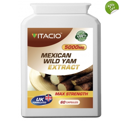 Mexican Wild Yam Extract 5000mg Max Strength Upto 5 Months Supply