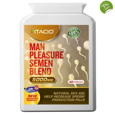 Man Pleasure Semen Blend 10:1 Extract 5000mg Natural Sperm Volume Enhancement Pills
