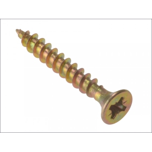 Qty 100 - 4 x 60 Chipboard Screws Z/Y