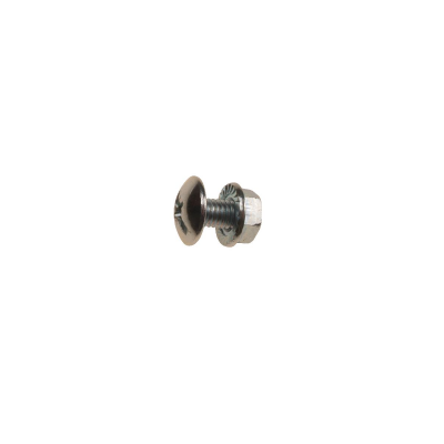 M6 x 25mm Tray Bolt with Serrated Flange Nut BZP title=