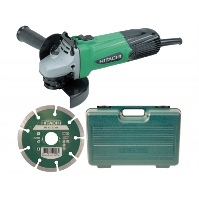 G12SSCD 115mm Grinder with Diamond Blade & Case 240/110 Volt title=
