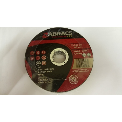 "Cutting Discs 4 1/2"" x 1mm x 22mm Extra Thin Pack of 10 title="