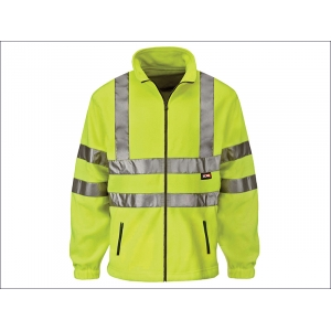 Hi-Vis Yellow Full Zip Fleece