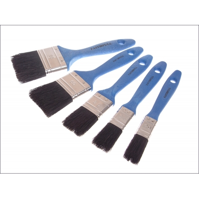 Utility Paint Brush Set of 5 19, 25, 38, 50 & 75mm title=