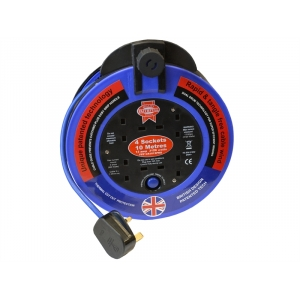 Fast Rewind 4 Socket Cable Reel 10 Met..