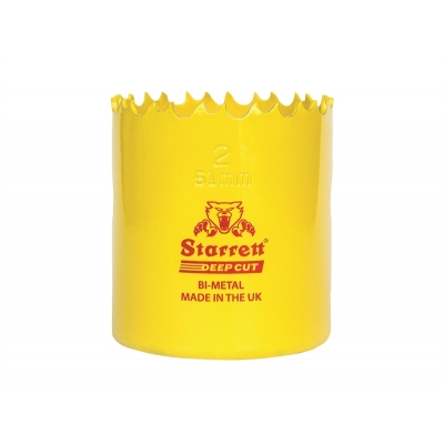 127mm Starrett Deep Cut Bi-Metal Holesaw title=