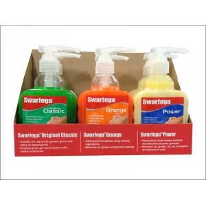 6 Assorted Hand Cleaner Pump Top Bottl..