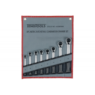 Ratchet Combination Spanner Set of 8 title=
