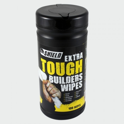 Shield Builders Wipes | Tub of 100 title=