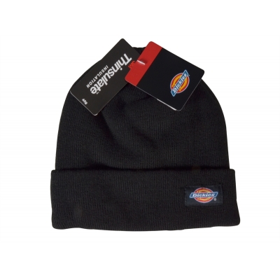 Dickies Black Beanie Hat title=