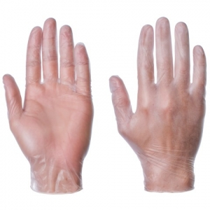 Powdered vinyl gloves - QTY: 100