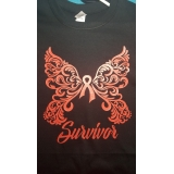 Cancer Survivor Butterfly T-shirt