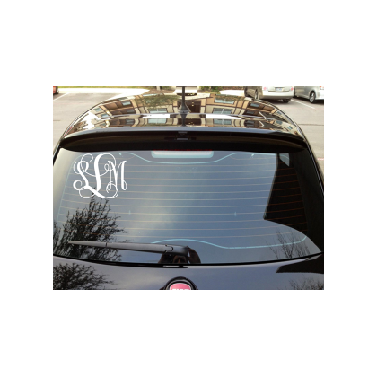 3 Letter Monogram Auto Decal