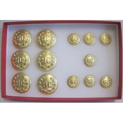"PRO. REMOVABLE DOUBLE ""SC"" WITH WREATH GOLD 1"" & 5/8´ SET"