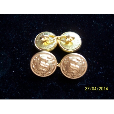 "5/8"" 2 SIDED ""S"" CUFF LINKS SETS"
