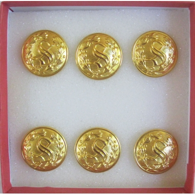 "7/8"" PRO REMOVABLE GOLD ""S"" WITH WREATH"