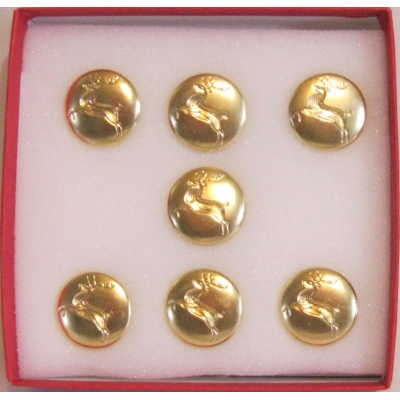 "3/4"" BRIGHT BRASS REINDEER BUTTON"