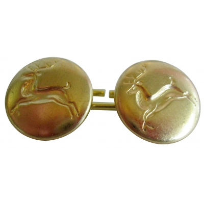 "2 SIDED 5/8"" REINDEER CUFF LINK SET"