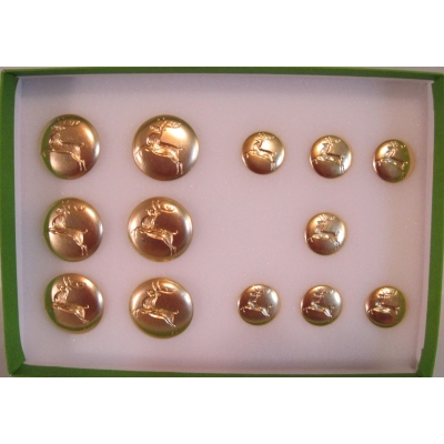 "DOUBLE SET OF PROFESSIONAL REMOVABLE 1 1/8"" & 5/8"" REINDEER BUTTONS"