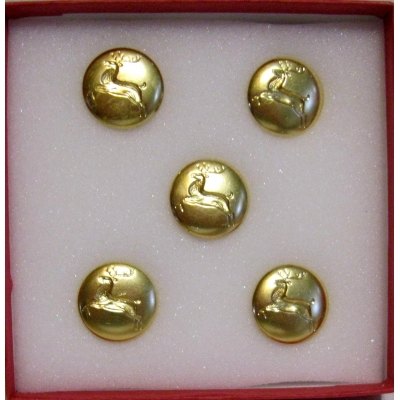 "5 PIECE 5/8"" POLISHED BRASS REINDEER PROFESSIONAL REMOVABLE"