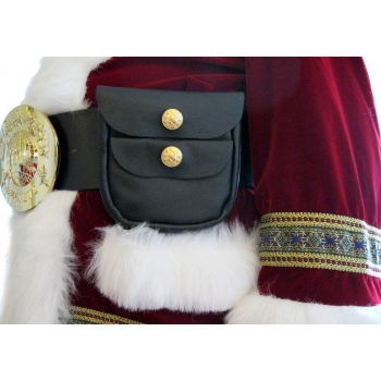 SANTA BELT POUCH-PEBBLE GRAI..