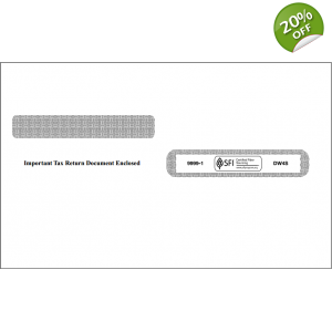 W-2 Laser Double Window Envelope