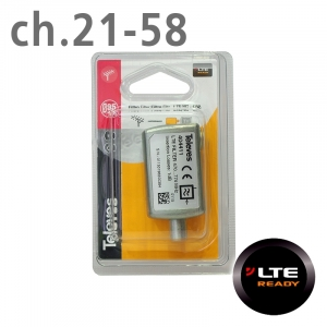 Televes Φίλτρο LTE ch.21-58 IEC Blister 404411