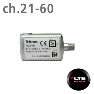 Televes Φίλτρο LTE ch.21-60 F 403401