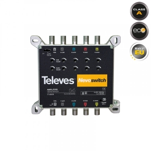 Televes Πολυδιακόπτης 714509 Nevoswitch Amplifier 5x5