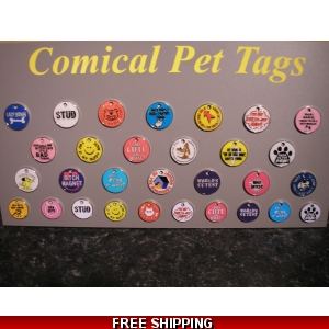 Engraved Comical Pet Tag - Dog Identit..